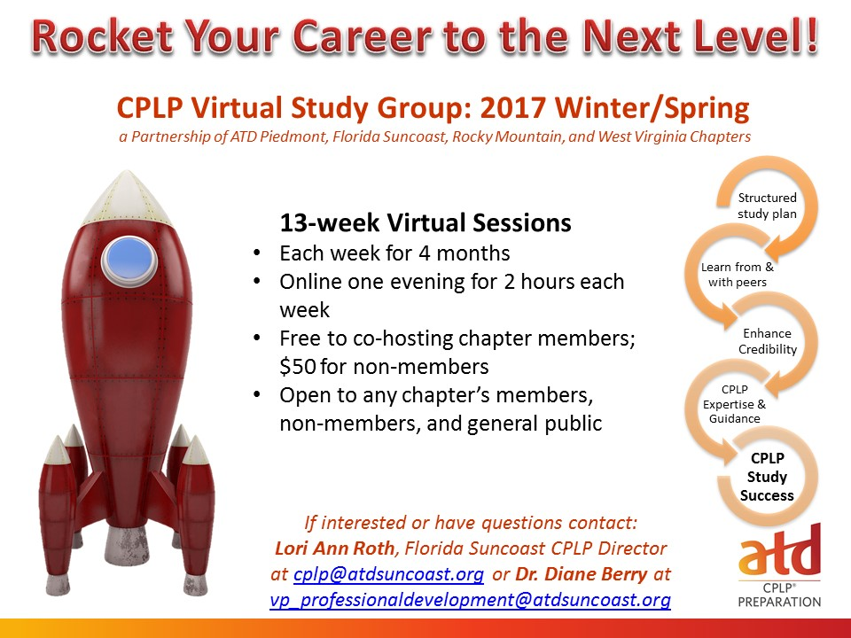Atd Florida Suncoast Chapter 2017 Fall Cplp Virtual Study Group